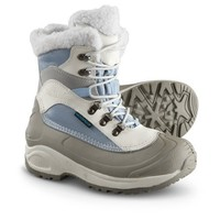 Women's Guide Gear Waterproof 400 gram Thinsulate Ultra Insulation Snow Ridge Boots Blue / White