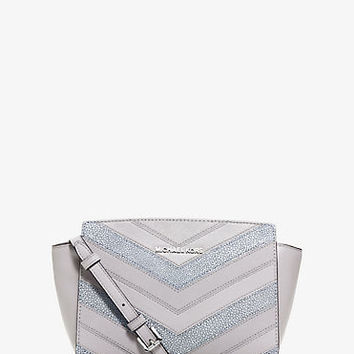 Selma Medium Leather Chevron Crossbody | Michael Kors