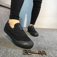 """Adidas"" Unisex Casual Slip On Canvas Plate Shoes Couple Loafer Sneakers"