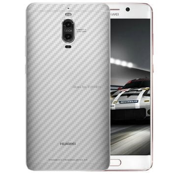 2 Pcs/lot Clear Transparent Back Carbon Fiber Sticker For Huawei Mate 9 Pro 5.5 inch Thin Slim Fit Protective flim Skin