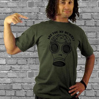 Mens t shirt - Doctor Who - Are You My Mummy - Gifts for Men - gas mask t-shirt