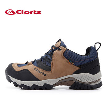 Clorts Men Hiking Shoes Real Leahter Outdoor Shoes Waterproof Nubuck Trekking Shoes Mountain Climbing Shoes HKL-826A/B