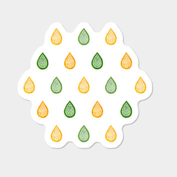Yellow And Green Droplets Sticker By Savousepate Design By Humans