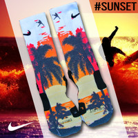 Custom Nike Elite Socks - Sunset | Lacrosse Unlimited