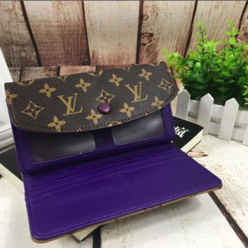 LV fashion leather printing long wallet[380330410020]