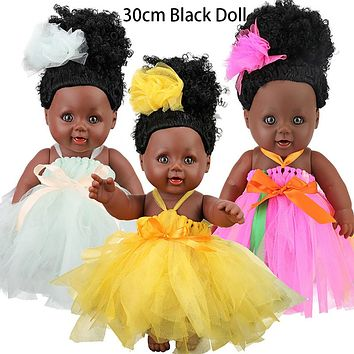 Cute Girl Dolls African American Play Doll