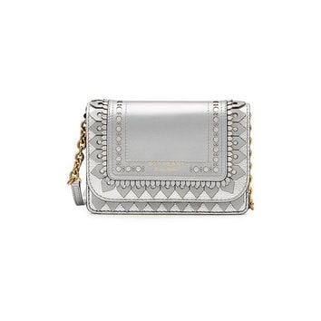 Hampshire Metallic Leather Wallet with Detachable Strap - Burberry | WOMEN | US STYLEBOP.COM