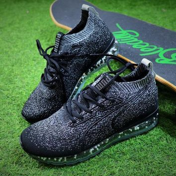 2018 Puma Jamming Cushion Forest Night Trainer Men Black White / Snowflake / Ice Blue Shoes Sale 1