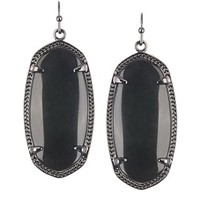 Elle Gunmetal Earrings in Black - Kendra Scott Jewelry