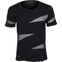 Gothic clothing: men's shirt with net triangle inserts