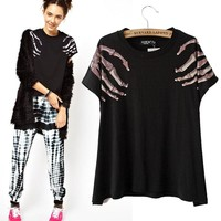 Women's Fashion Stylish Fashion Graphic Tee [6047497729]