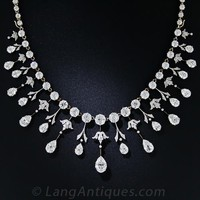 Extraordinary Edwardian Diamond Fringe Necklace - Victorian Jewelry - Shop for Jewelry