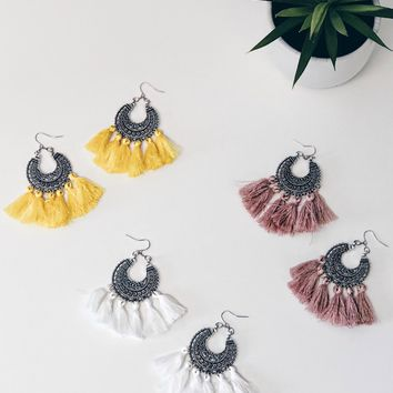 Boho Oversized Tassel Earrings