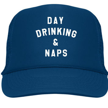 Day Drinking & Naps Trucker Hat - Navy
