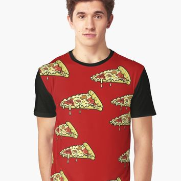 'Pizza Pattern' Graphic T-Shirt by Gamerama
