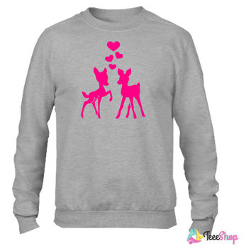 Deer_ Crewneck sweatshirtt