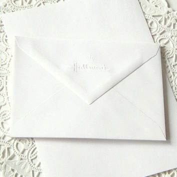 Vintage Stationery Set. White Stationery. Writing Paper. Stationery Envelopes. Hallmark Stationery. Journal Paper. Mixed Media Supply.