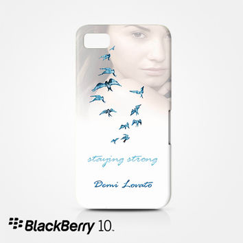 Demi Lovato Staying Strong for Blackberry Z10/Q10 3D Phonecases