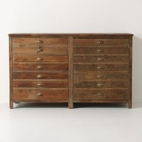 Illusorio Cabinet by Anthropologie Brown One Size Furniture