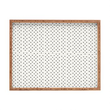 Allyson Johnson Tiny Polka Dots Rectangular Tray