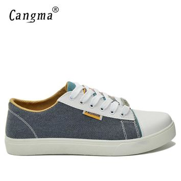 CANGMA Original Men Sneakers Multi-Colored Casual Shoes Man's Italy Fashion Gray And Red Espadrilles Male Platform Canvas Shoes
