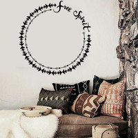 Vinyl Wall Decal Free Spirit Ethnic Style Room Decoration Stickers Unique Gift (ig4661)