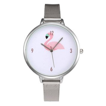 Funique Fashion Flamingo Wrist Watch