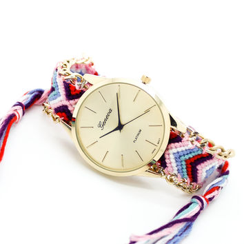 Friendship bracelet watch (3 colors)