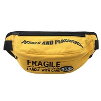 Handle with Care Waist Bag in Yellow
