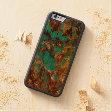 Natural Turquoise V5 Carved® Cherry iPhone 6 Bumper Case