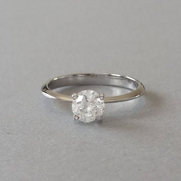 Diamond Engagement Ring, Solitaire Engagement Ring, Gold Engagement Ring, Classic Engagement Ring, Engagement Ring, Timeless Engagement Ring