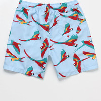 "ambsn Parrots Hot Tub 17"" Swim Trunks 