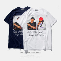 """Three Six Mafia"" Men Printed Short Sleeve T-Shirt"