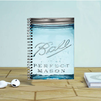 Blue Ball Glass Mason Photo Notebook Auroid