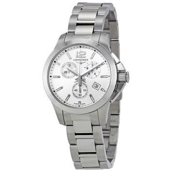 Longines Conquest Chronograph Silver Dial Ladies Watch L33794766