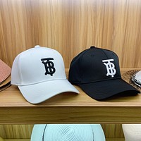"""""""Burberry"""" Unisex All-match Simple TB Letter Embroidery Baseball Cap Couple Casual Peaked Cap Sun Hat"""