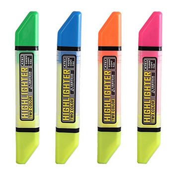 IARTECH Dual Brush Tip Vibrant Colors Marker Highlighter Perfect for Kids Class and Bistro Boards,4-Pack