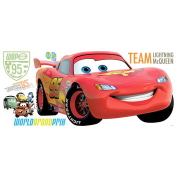 Disney Pixar Cars Lightning McQueen Giant Wall Decal
