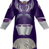 Trippy Cash Money Sweatshirt Dress created by trilogy-anonymous | Print All Over Me