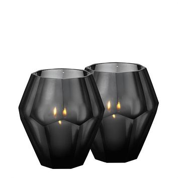 Black Candle Holder (set of 2) | Eichholtz Okhto