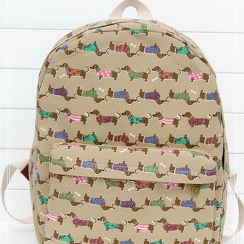Canvas Dogs Backpack = 4887555780