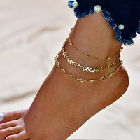 Jada Triple Chain Ankle Bracelet