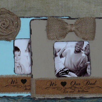 Parents Gift Grandparents Gift Personalized Frame Set of 2 Rustic Frame Shabby Chic Frame Personalized Christmas Gift  Parents Grandparents