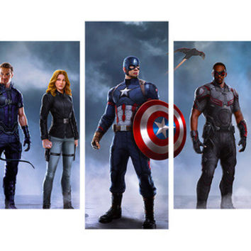 Avengers Print Wall Art - 5 Pieces