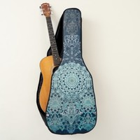 Elegant laced turquoise pattern guitar case