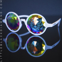 White Kaleidoscope Crystal Glasses