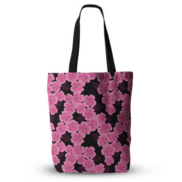 "Julia Grifol ""Pink on Black"" Everything Tote Bag"
