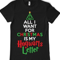 Black T-Shirt | Fun Harry Potter Holiday Shirts