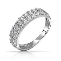 Bling Jewelry 2 Rows of Love Ring