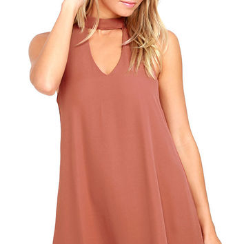 Groove Thing Rusty Rose Swing Dress